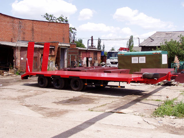 Низкорамная платформа 20 тонн
