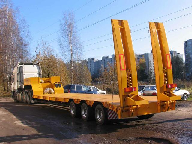 Низкорамная платформа 30 тонн