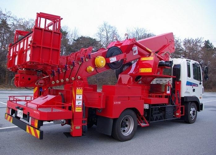 Автовышка Hansin HS 3570, высота подъема 35 метров