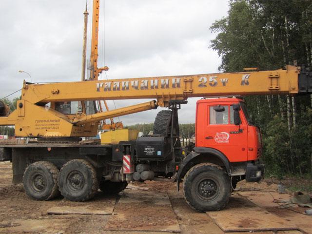 Автокран 25 тонн-вездеход