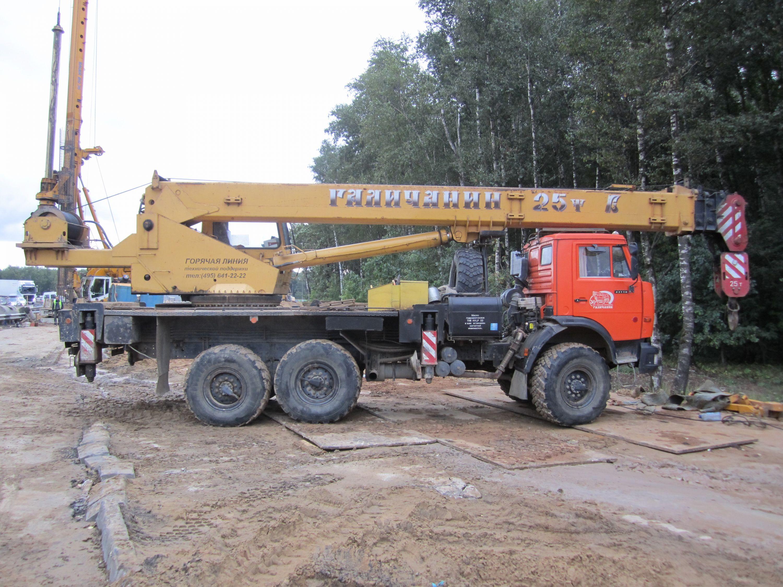 Автокран Галичанин КС-55713 г/п 25 тонн на  вездеходном шасси