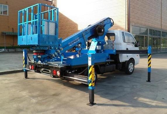 Автовышка DASAN DS 180S, высота подъема 18 метров